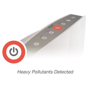 Alen breathesmart control panel during heavy pollutant condition