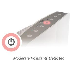 Alen breathesmart control panel during moderate pollutant condition
