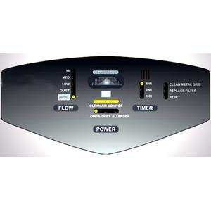 Control panel view of surround air xj-3800