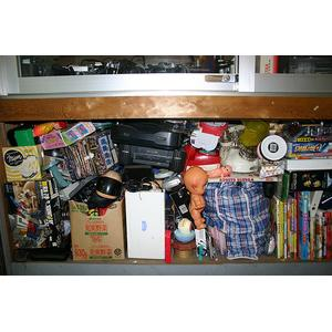 Removing junk in storeroom to improve indoor air quality