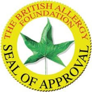 Seal of approval from British allergy foundation for ap-1012gh